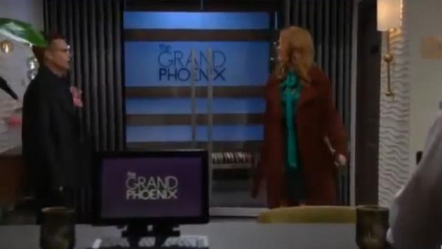 Andrew Marc Double Breasted Coat outfit worn by Phyllis Summers (Michelle Stafford) as seen on The Young and the Restless November 14, 2019 - TV Show Outfits and Products