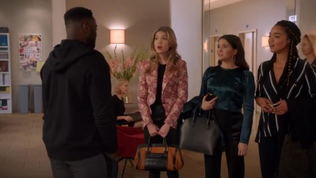 Ann Demeulemeester Cropped Frayed Cotton Blend Satin Top outfit worn by Jane Sloan (Katie Stevens) in The Bold Type (S03E07) - TV Show Outfits and Products