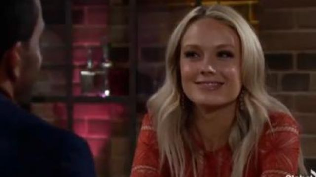 Anne Klein Pave Chandelier Earrings outfit worn by Melissa Ordway as seen in The Young and the Restless June 19,2019 - TV Show Outfits and Products