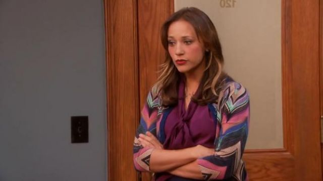 Anthropologie Seared Chevrons Cardigan outfit worn by Ann Perkins (Rashida Jones) in Parks and Recreation (S05E18) - TV Show Outfits and Products