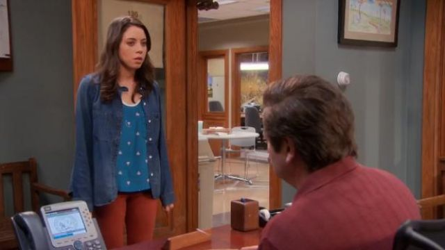 Antipodium Thumb up tank outfit worn by April Ludgate (Aubrey Plaza) in Parks and Recreation (S05E19) - TV Show Outfits and Products