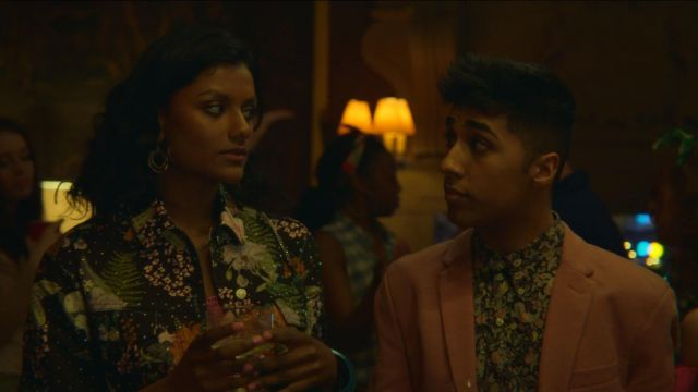 Fashion Trends 2021: Anwar's (Chaneil Kular) vintage floral shirt as seen in Sex Education S01E02