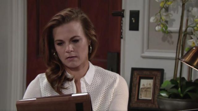 Aqua Double Hoop Earrings outfit worn by Gina Tognoni as seen in The Young and the Restless May 2019 - TV Show Outfits and Products
