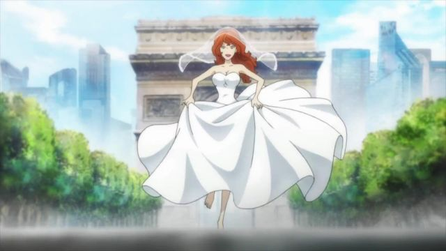 Arc de Triomphe visited by Fujiko Mine in Lupin the Third (S05) - TV Show Outfits and Products