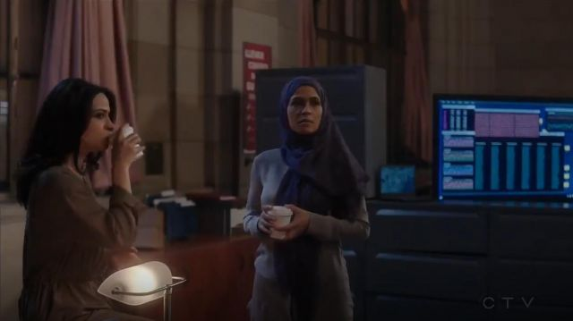 Aritzia Wilfred Bossut Dress outfit worn by Nimah Amin (Yasmine Al Massri) in Quantico (S01E09) - TV Show Outfits and Products