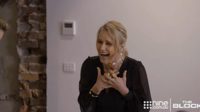 Arms of Eve Multi Gold Choker Necklace outfit worn by Shaynna Blaze in The Block Season15 Episode29 - TV Show Outfits and Products