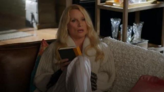 Asceno Pyjama Bottoms outfit seen on Alexis Carrington (Nicollette Sheridan) in Dynasty (S01E18) - TV Show Outfits and Products