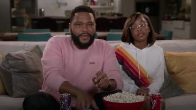 Aviator Nation Cross Stripe Pullover Hoodie outfit worn by Diane Johnson (Marsai Martin) in black-ish Season 6 Episode 7 - TV Show Outfits and Products