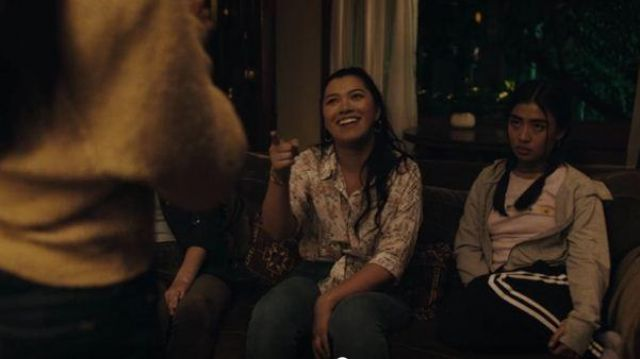 BDG Urban Outfitters Pink short sleeve floral printed Tee outfit worn by Alex Portnoy (Brianne Tju) in Light as a Feather Season 02 Episode 13 - TV Show Outfits and Products