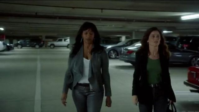 BLANKNYC Drape Front Faux Suede Jacket outfit worn by CJ Emerson (Merrin Dungey) in The Fix (S01E07) - TV Show Outfits and Products