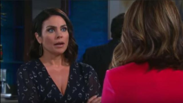 Ba&Sh Memory Floral Silk Chiffon Dress outfit worn by Chloe Lane (Nadia Bjorlin) as seen in Days of Our Lives May 24, 2019 - TV Show Outfits and Products