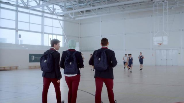 Backpack Christian (Miguel Herran) seen in Elite Season 1 Episode 1 - TV Show Outfits and Products