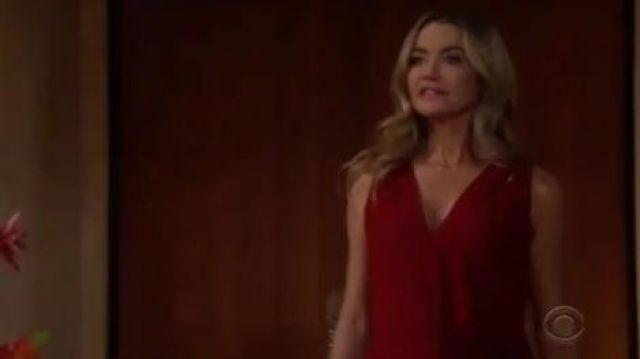 Bailey 44 Amber Twist-Front Top outfit worn by Shauna Fulton (Denise Richards) as seen on The Bold and the Beautiful November 11, 2019 - TV Show Outfits and Products