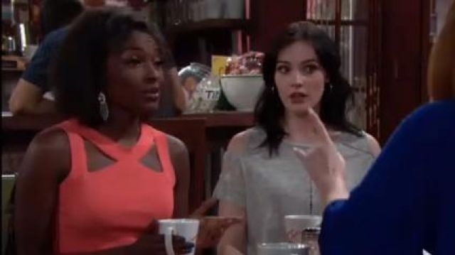 Bailey 44 Cerebral Sweater Top with Cutouts outfit worn by Loren Lott as seen in The Young and the Restless June 18,2019 - TV Show Outfits and Products
