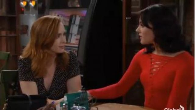 Bailey 44 Kabuki Top outfit worn by Cait Fairbanks as seen in The Young and the Restless June 14,2019 - TV Show Outfits and Products