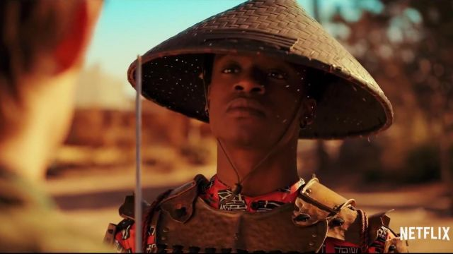 Bamboo hat outfit worn by Wesley Fists (Austin Crute) in Daybreak (S01) - TV Show Outfits and Products