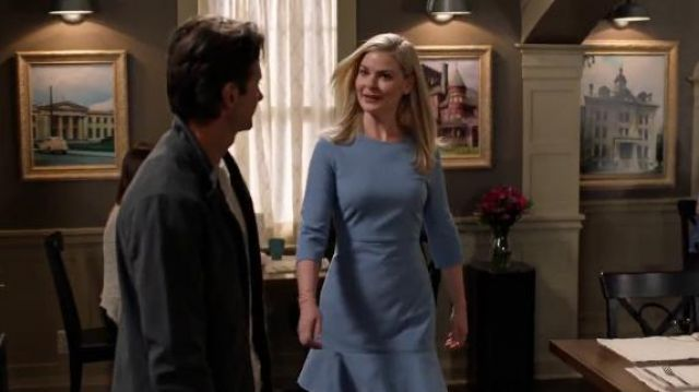 Banana Republic 3/4 Sleeve Ruffle Hem Dress of in Good Witch (S05E03) - TV Show Outfits and Products