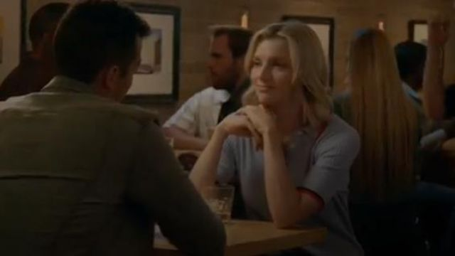 Banana Republic Blue Ribbed Sweater Polo outfit worn by Sylvie Brett (Kara Killmer) in Chicago Fire Season 8 Episode 3 - TV Show Outfits and Products