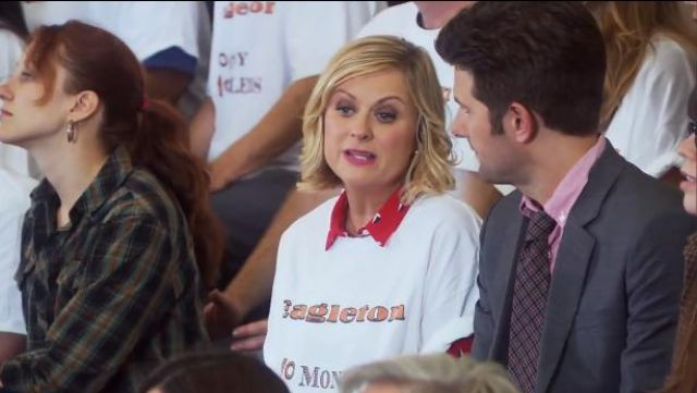 Band of Outsiders Sailboat Easy Shirt by Boy outfit worn by Leslie Knope (Amy Poehler) in Parks and Recreation (S06E03) - TV Show Outfits and Products