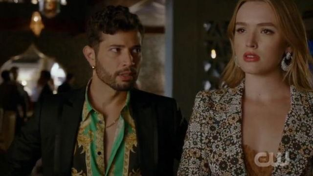 Baroque Silk Shirt outfit worn by Sam Jones (Rafael de la Fuente) in Dynasty Season 03 Episode 06 - TV Show Outfits and Products