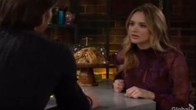 Ba&sh Macha Geo Print Dress outfit worn by Summer Newman (Hunter King) in The Young and the Restless October 9, 2019 - TV Show Outfits and Products