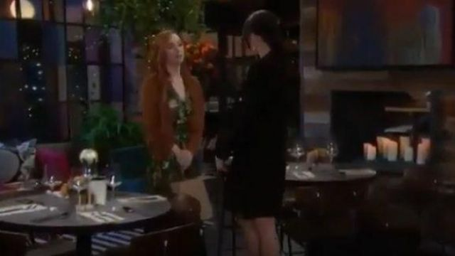Ba&sh Vianca Green Dress outfit worn by Mariah Copeland (Camryn Grimes) as seen on The Young and the Restless November 5, 2019 - TV Show Outfits and Products