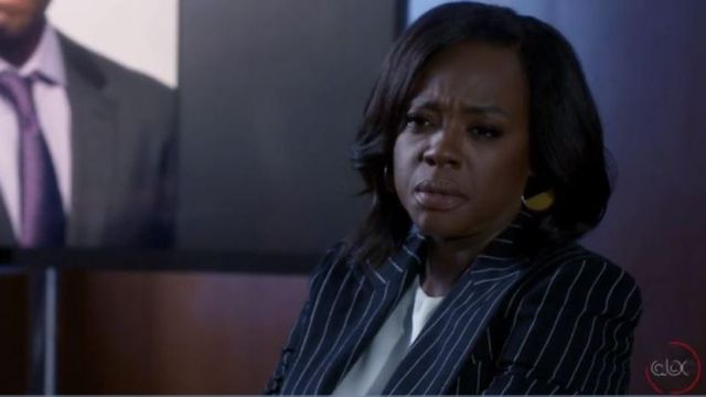Bazer striped Annalise Keating (Viola Davis) seen in How to get away with Murder (Season 5 Episode 5) - TV Show Outfits and Products