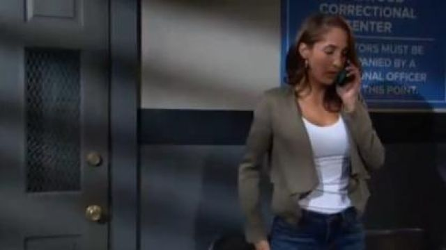 Bcbgmaxazria Ania Jacket outfit worn by Christel Khalil as seen in The Young and the Restless jUNE 19,2019 - TV Show Outfits and Products