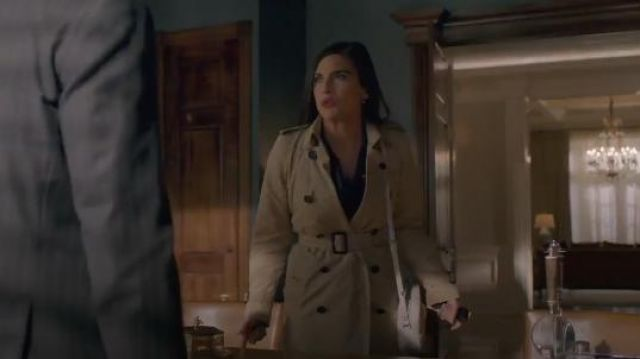 Beige Trench Coat outfit worn by Cristal Jennings (Ana Brenda Contreras) in Dynasty Season 2 Episode 21 - TV Show Outfits and Products