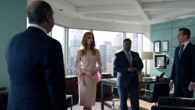Beige dress by Tom Ford, Donna Paulsen (Sarah Rafferty) seen in Suits : Lawyers-to-Measure Season 8 Episode 9 - TV Show Outfits and Products