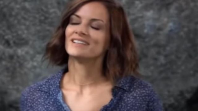Bella Dahl Hipster floral shirt outfit worn by Elizabeth Webber (Rebecca Herbst) on General Hospital October 1, 2019 - TV Show Outfits and Products