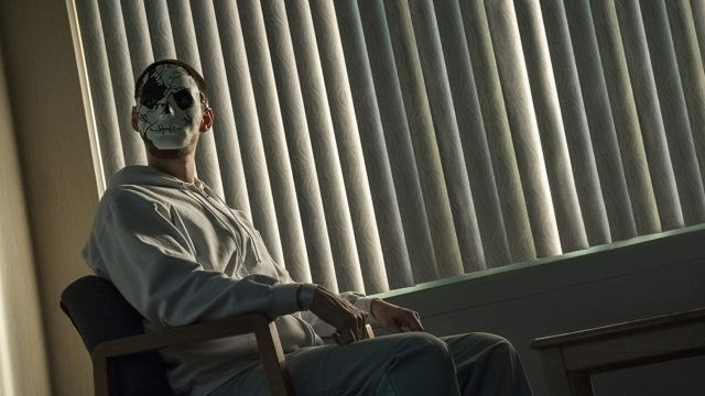 Fashion Trends 2021: Billy Russo's (Ben Barnes) broken face mask as seen in Marvel's The Punisher S02E03