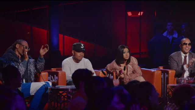 """Black """"3"""" cap outfit worn by Chance The Rapper in Rhythm + Flow (S01E01) - TV Show Outfits and Products"""