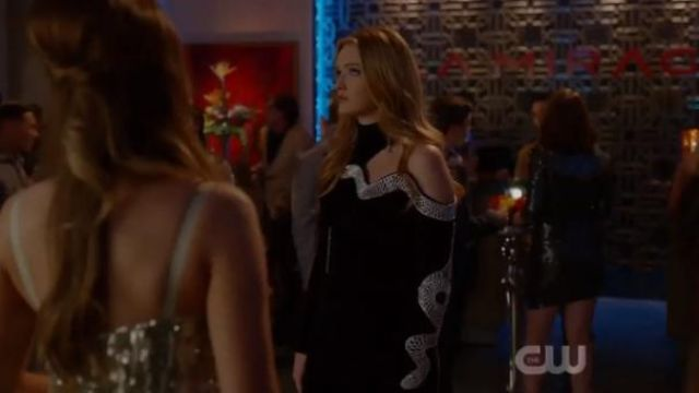 Black Cut Out Embellished Dress outfit worn by Kirby Anders (Maddison Brown) in Dynasty Season 3 Episode 5 - TV Show Outfits and Products