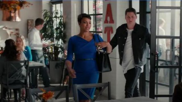Black Halo 3/4 Sleeve Jackie O Dress outfit worn by Angela (Carly Hughes) in American Housewife Season 4 Episode 7 - TV Show Outfits and Products