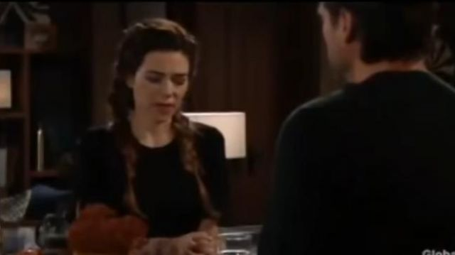 Black Halo Black Dress outfit worn by Victoria Newman (Amelia Heinle) as seen on The Young and the Restless November 18, 2019 - TV Show Outfits and Products