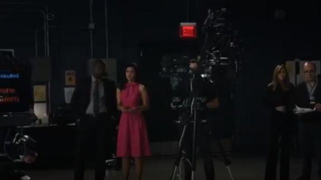 Black Halo Pink Carolina Dress outfit worn by Alison (Janina Gavankar) in The Morning Show Season 1 Episode 4 - TV Show Outfits and Products