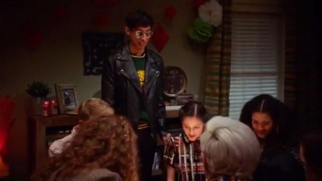 Black Leather Biker Jacket worn by Carlos (Frankie A. Rodriguez) in High School Musical: The Musical: The Series Season 1 Episode 7