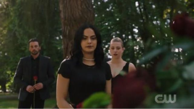 Black Skater Dress outfit worn by Veronica Lodge (Camila Mendes) in Riverdale Season 4 Episode 1 - TV Show Outfits and Products