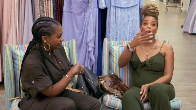 Black Snap Button Jumpsuit outfit worn by Kandi Burruss in The Real Housewives of Atlanta Season 12 Episode 02 - TV Show Outfits and Products