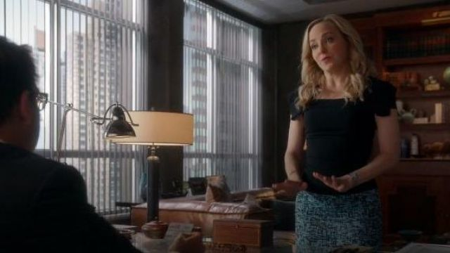 Black Square Neck Top outfit worn by Marissa Morgan (Geneva Carr) in Bull Sesaon 04 Episode 07 - TV Show Outfits and Products