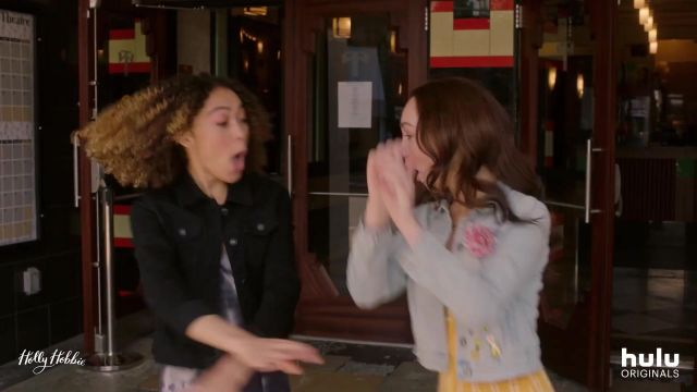 Black Stretch Denim Jacket outfit worn by Piper Parish (Kamaia Fairburn) in Holly Hobbie - TV Show Outfits and Products
