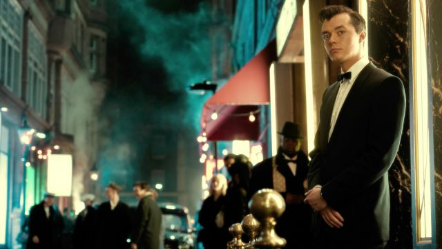 Black bow tie of Alfred Pennyworth (Jack Bannon) as seen in Pennyworth (Season 01) - TV Show Outfits and Products