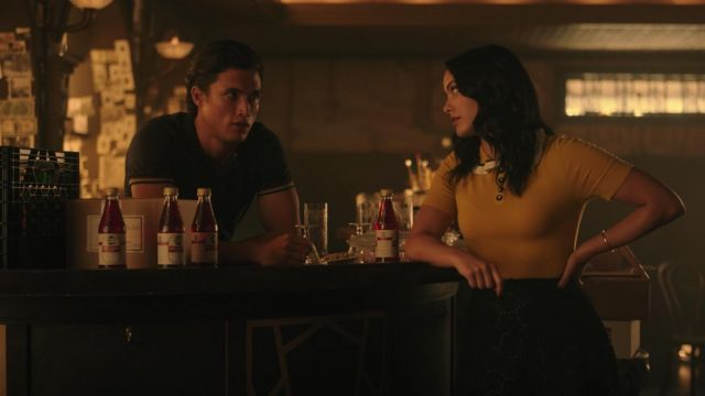 Black skirt of lace Kate Spade shoes outfit worn by Veronica Lodge (Camila Mendes) seen in Riverdale Season 3 Episode 3 - TV Show Outfits and Products