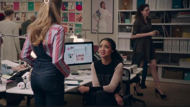 Black sweater and beige Kat (Aisha Dee) seen in The Bold Type Season 2 Episode 3 - TV Show Outfits and Products