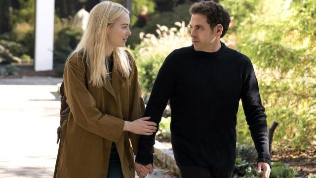 Black sweater with a small turtleneck outfit worn by Owen Milgrim (Jonah Hill) seen in Maniac season 1 - TV Show Outfits and Products