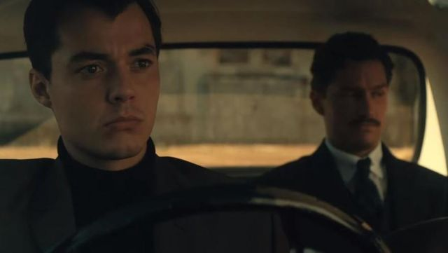 Black t-shirt outfit worn by Alfred Pennyworth (Jack Bannon) as seen in Pennyworth (Season 01 trailer) - TV Show Outfits and Products