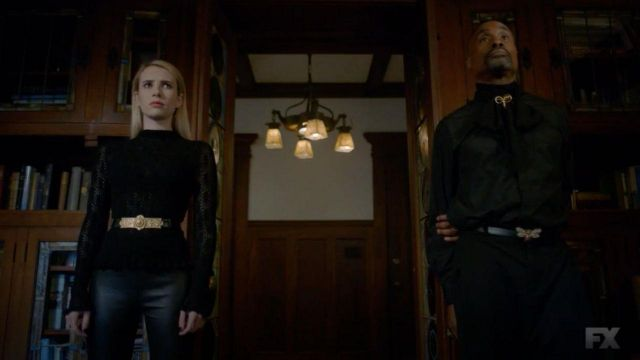 Black top, long-sleeved, Madison Montgomery (Emma Roberts) seen in American Horror Story (Season 8 Episode 6) - TV Show Outfits and Products