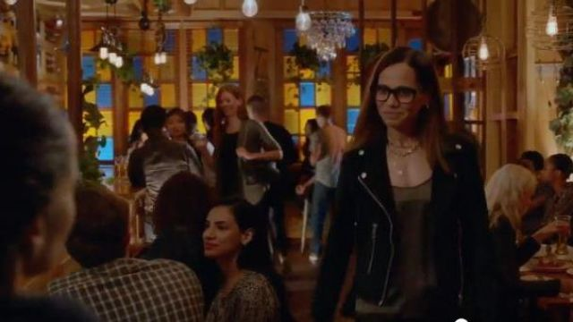 Blank NYC Black Suede Moto Jacket outfit worn by Amanda Doherty (Victoria Cartagena) in Almost Family Season 01 Episode 01 - TV Show Outfits and Products
