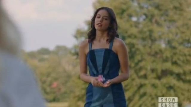 Blank NYC blue 70s denim playsuit outfit worn by Josie Saltzman (Kaylee Bryant) in Legacies Season 2 Episode 1 - TV Show Outfits and Products